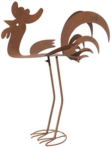 BACKYARD EXPRESSIONS PATIO · HOME · GARDEN 906408 Bronze Sculpture Rooster Statue