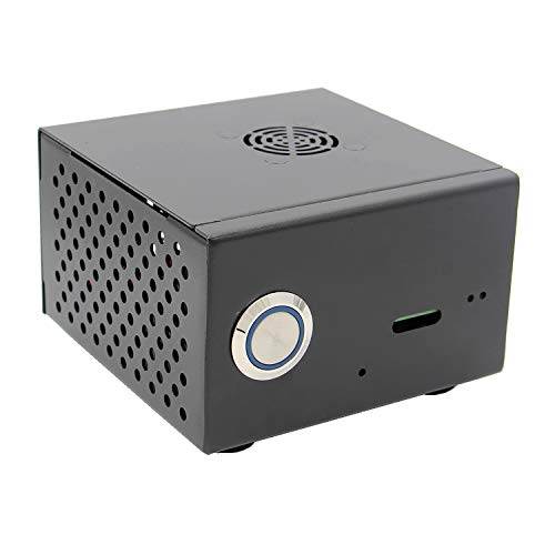 Geekworm Raspberry Pi X850 Metal Case with Cooling Fan Kit, Enclosure for X850 V3.0/V3.1 mSATA SSD Expansion Board /X860/X870 Board with X735 V1.0 Board & Raspberry Pi 3 Model B+ / 3B /2B