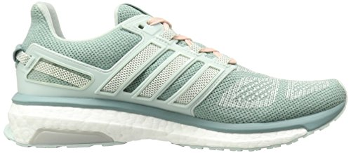 Adidas a aumentar la energía 3 W zapatos para correr, púrpura / blanco / amarillo resplandor de Su Vapor Green F16/Chalk 2/Vapor Steel F16