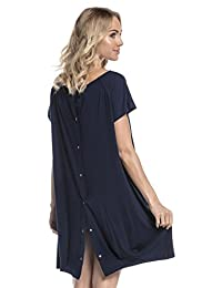 HAPPY MAMA. Womens Labor Delivery Hospital Gown Breastfeeding Maternity. 097p