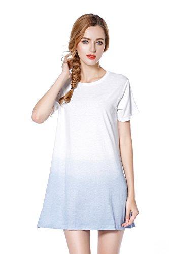 UINSTONE T shirt Dress short Sleeve Tie Dye Style