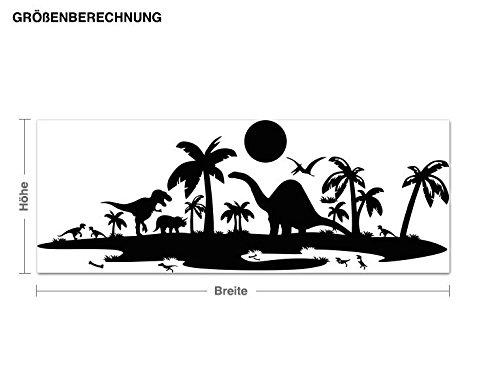 Klebefieber Wandtattoo Wandtattoo Wandtattoo Dinolandschaft B x H  100cm x 37cm Farbe  dunkelgrün B072F3ZTDW Wandtattoos & Wandbilder 808a0a