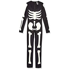 Leg Avenue Women's Glow in The Dark Skeleton Bodysuit Halloween Costume