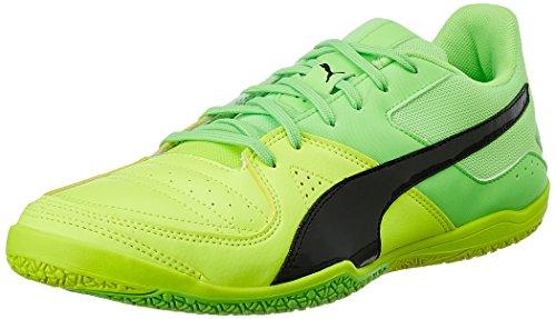 Puma Gavetto Sala - zapatillas de fútbol de material sintético hombre Amarillo (Safety Yellow-puma Black-green Gecko 15)