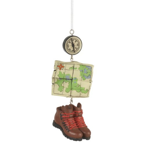 Hiking Boots, Compass & Map made our list of unique RV Camping Christmas Tree Ornaments