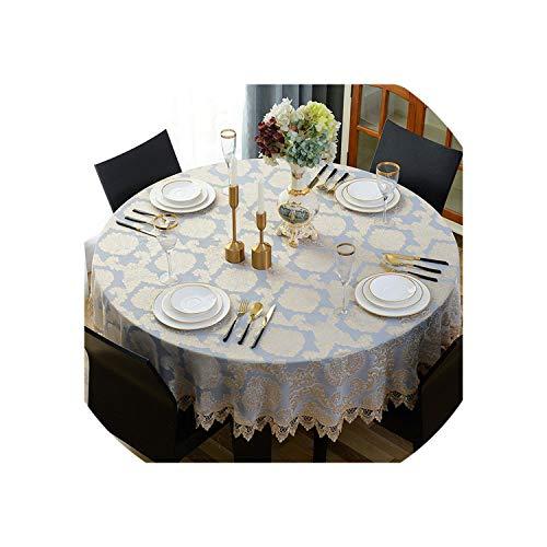 Round Tablecloth Jacquard Classic Table Cloth Elegant Decoracao para Casa Lace Edge Tapete Table Cover,Picture Design,Diameter 220cm