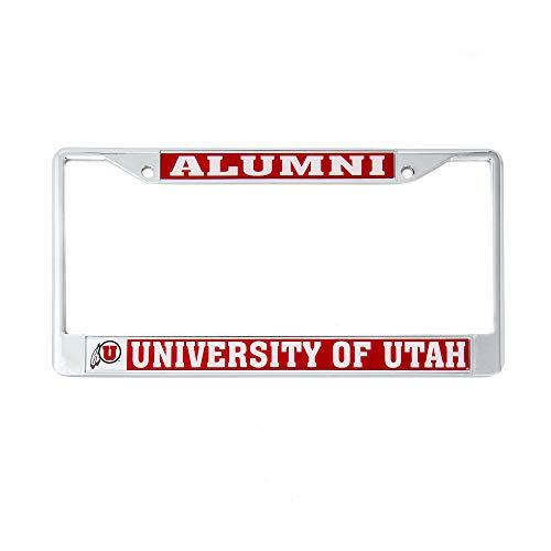 License University Plate Frame (Desert Cactus University of Utah Alumni License Plate Frame for Front Back of Car Officially Licensed Utes)