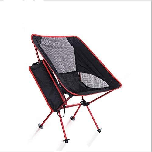 CAMP Portable pliant en alliage d'aluminium Chaise pliante for le camping ou la pêche, se replie for tenir dans la plupart des coffres de voiture FOLD