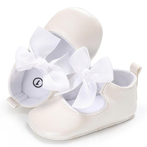 Ouneed® Krabbel schuhe , Baby Bowknot Princess Soft Sole Shoes Toddler Sneakers Casual Shoes Weiß