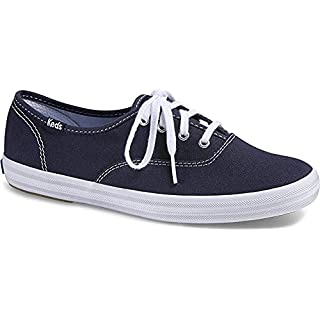 Keds Women's Champion Original Canvas Lace-Up Sneaker, Navy, 5.5 XW US