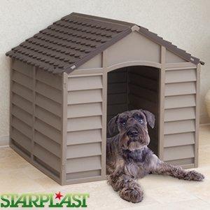 A2Z Home Solutions® Adorable exterior de plástico caseta de perro de jardín refugio de mascotas de invierno casa durable grande resistente a la intemperie: ...