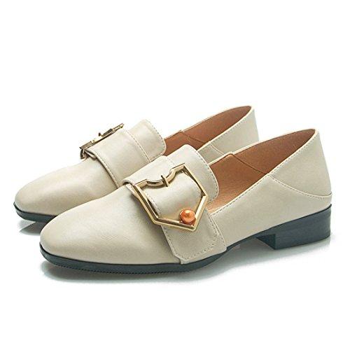 Mocassins Décontractés Classiques Pour Femmes - Mocassins De Conduite Doux Slip On Shoes 899-15 Abricot