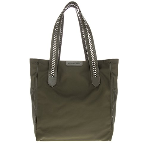 Stella-McCartney-Womens-Khaki-Falabella-GO-Handbag-Green-Dark-Green