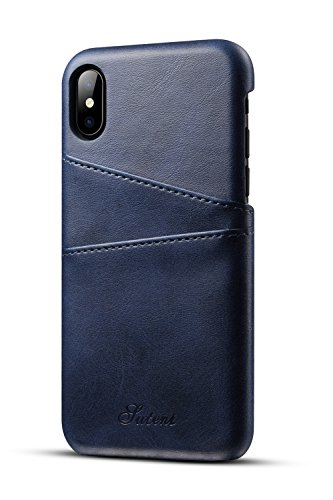 XRPow Apple iPhone X/XS Wallet Phone Case, Slim Leather Wallet Case Back Cover With Credit Card Holder - Womens Apple Wallet