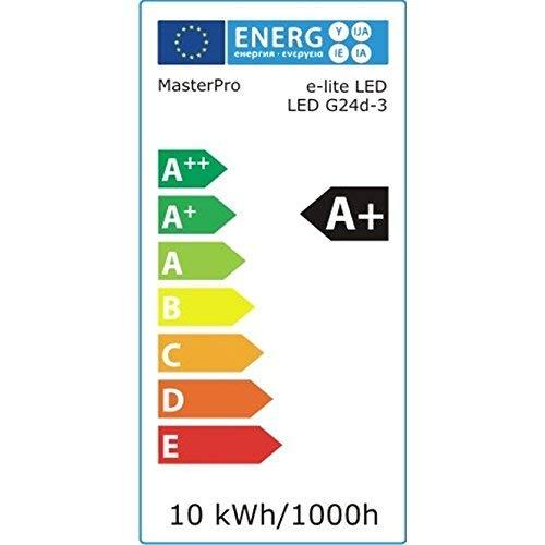 SMART Bombilla LED G24D-3 zócalo certificado DEKRA 10 W 4000 K 840 1000 lm 14 cm 2 pines 360 ° compatible con KVG muy compacta lámpara fluorescente compacta ...