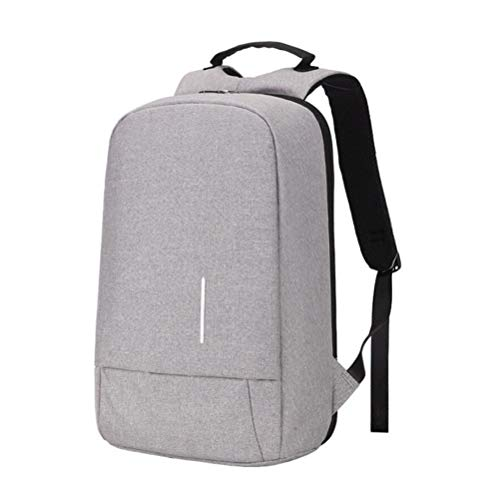 Usb Lightgray Men's Security Computer Bag Dhfud Backpack Charging qvHx40xESw
