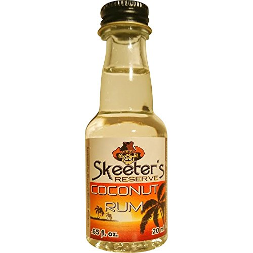 Skeeter's Reserve Coconut Rum Premium Essence - Flavor Concentrate For Mixers and Cooking Recipes - Official Reloads For The Outlaw Kit MADE BY American Oak Barrel - 20 ml bottle (Best Dark Rum For Cooking)