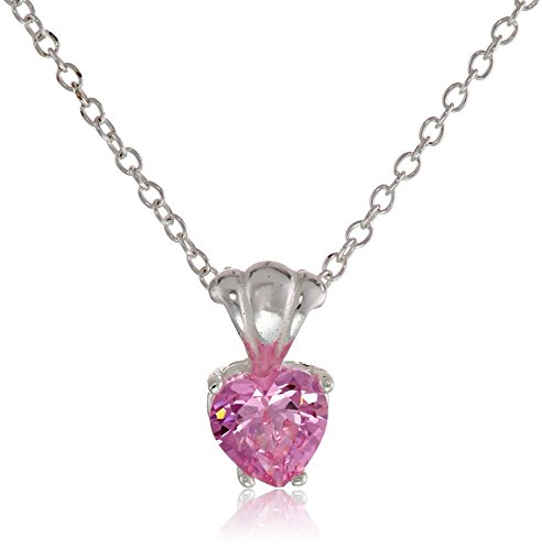 - Disney Cubic Zirconia Heart Charm Pendant Necklace