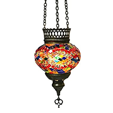 Turkish Glass Mosaic Lantern (Medium)-5