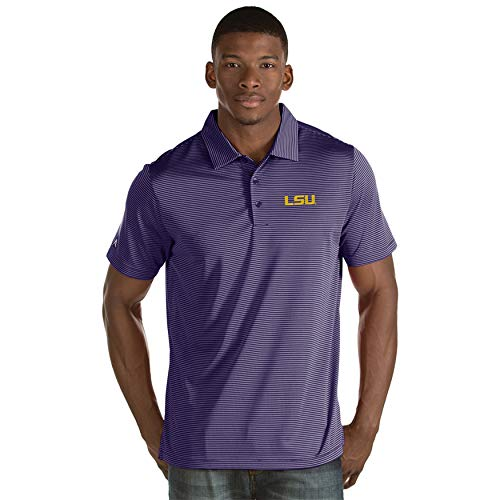 Lsu Striped Tigers Shirt (LSU Mens Quest Polo (Color: Purple) - Medium)