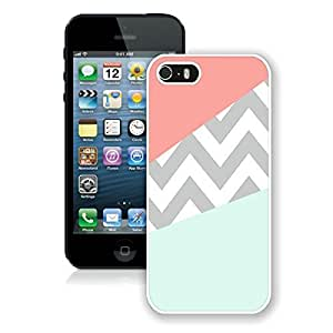 Case Coral Mint Grey Chevron Iphone 5 Case,Iphone 5s Case White Cover