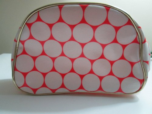 nordstrom-pink-white-polka-dot-makeup-bag-waterproof