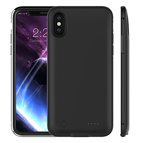 best service 0ea8f 89907 iPhone X Battery Case 5000mAh, Rechargeable External Battery Portable Power  Charger Protective Charging Case for Apple iPhone X,iPhone 10 (5.8 Inch) ...