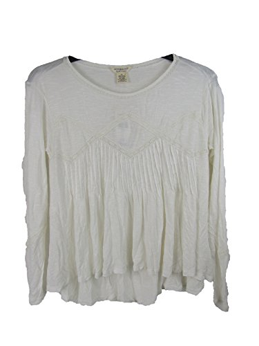 RALPH LAUREN Denim & Supply Women's Lace-Trim Slub Jersey Top (XS, White) (Lace Lauren Ralph Spring)