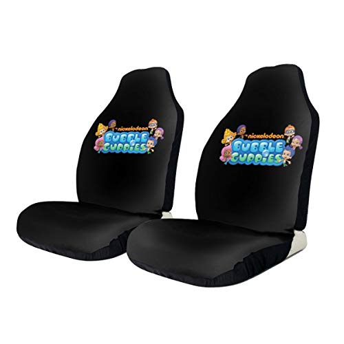 Bubble Guppies Logo Car Seat Covers Auto Seat Protectors for Women Men Set of 2 (Bubble Guppies Car Seat Cover)