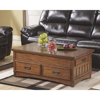 Amazoncom Ashley Furniture Signature Design Porter Coffee Table - Rectangular cocktail table by ashley furniture