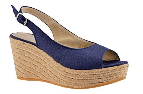Neuf Femme Bleu Sandales Keys 90 Chaussures Campesina Uxq4ntfwR