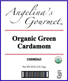 Organic Green Cardamom, 40 Lb Bag by Angelina's Gourmet (Image #2)
