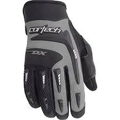 Cortech DX 2 Youth Textile Street Bike Motorcycle Gloves - Black/Silver / Size 3-4 ()