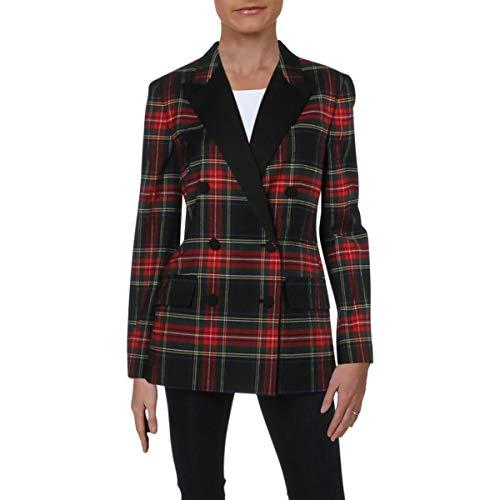 LAUREN RALPH LAUREN Womens Ryen Wool Striped Jacket Multi 8