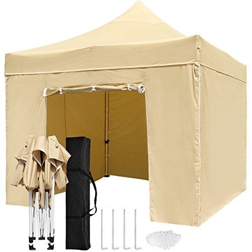Topcamp 10 X 10 Pop Up Canopy Tent With Walls Heavy Duty