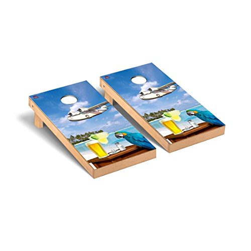 Margarita Beach Themed Cornhole Game Set Version 2 by Victory Tailgate