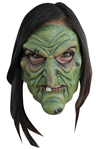 Witch Mask (Green Witch Mouth Moving Mask)