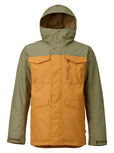 Burton Men's Covert Jacket, Golden Oak/Rucksack, (Burton Mens Hood Jacket)