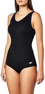 Speedo Womens Swimsuit One Piece Pebble Texture Conservative Cut