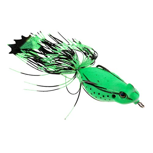 Ameglia Topwater Frog Crankbait Lure Double Hook Bait Bass Soft Swimbait Skirts Lure (Color - ()