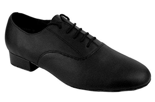 Mens Ballroom Dance Shoes Black Leather qGRSQWh5