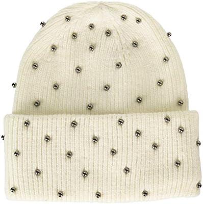 Steve Madden Womens Metallic Pearls Hat
