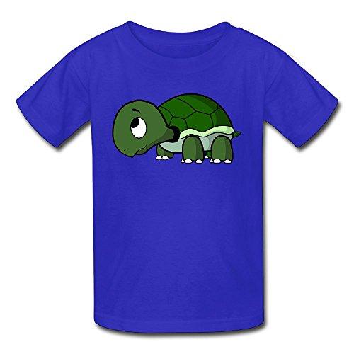Hoeless Cartoon TurtlesToddler Short Sleeve TeeSoft Shirt 18 Months RoyalBlue