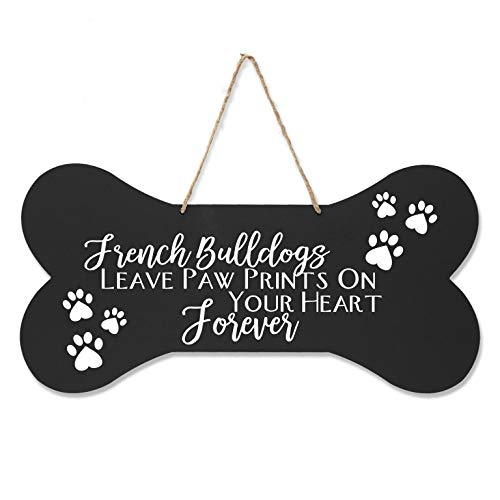 - LifeSong Milestones French Bulldog Pet Quote Dog Bone Wall Hanging Sign, Dog Lovers Gifts for Women, Dog Owner Gift for Home Decor, 8