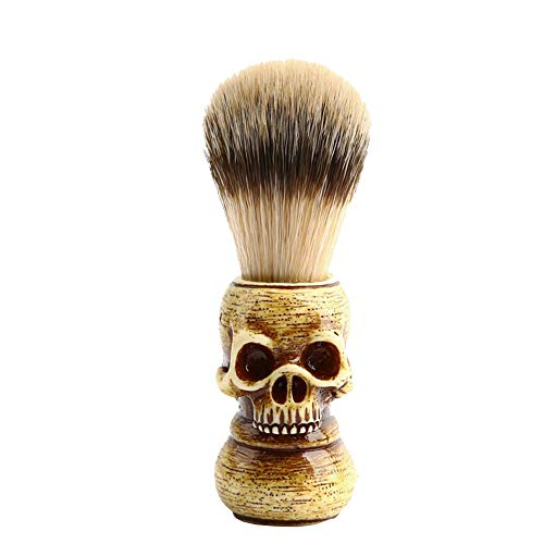 Loneflash Badger Hair Shave,Men Shaving Bear Brush with Heavy Wood Base and Ergonomic Handle for Any Methods of Shaving