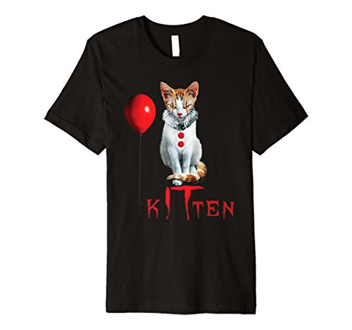 Clown Cat Kitten Halloween Premium T-Shirt -