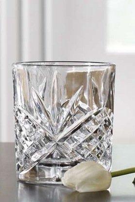 James Scott Double Old Fashioned Crystal Drinking Glasses Set, Irish Cut Design - Set of 4 - 8 Oz by James Scott (Image #3)