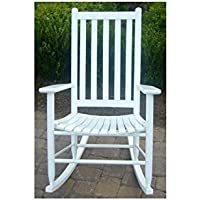 Dixie Seating Company 143394-OG-47429-O-177599 Slat Seat Adult Rocking Chair Unfinished, white