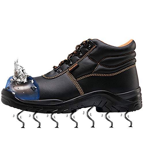 Trabajo Entrenador 01 Acero Con Senderismo Mujer Impermeables Piel Hombre Zapatos De Vacuno Zapatillas Suadeex Seguridad Botas Unisex Puntera Naranja UfO1wSq6qx