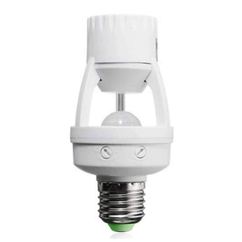 Taille Unique LNIMIKIY E27 Ampoule /à d/étecteur de Mouvement Infrarouge PIR avec Base Repousse Blanc